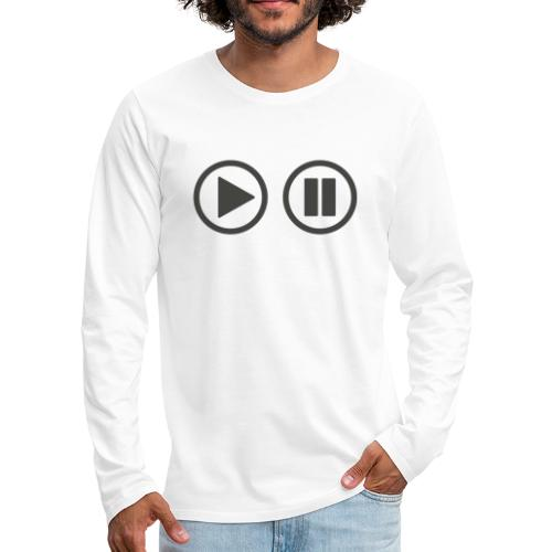 Play the button - Männer Premium Langarmshirt