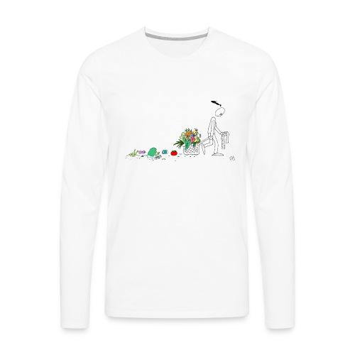 frukt og grønt handleveske - Premium langermet T-skjorte for menn