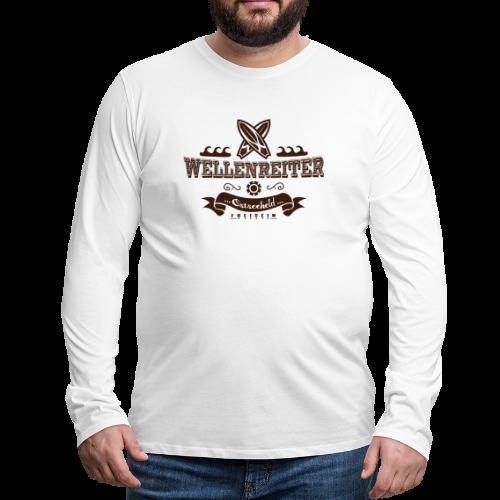 Geweihbaer Wellenreiter - Männer Premium Langarmshirt