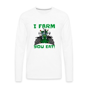 I farm you eat jd - Mannen Premium shirt met lange mouwen