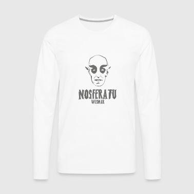 Nosferatu Kopf Wismar - Männer Premium Langarmshirt