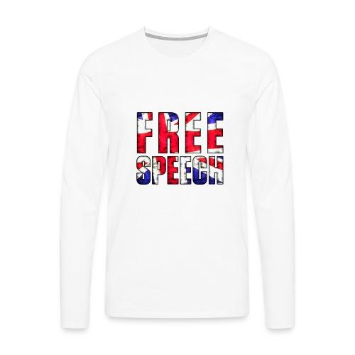 Free Speech UK - Men's Premium Longsleeve Shirt