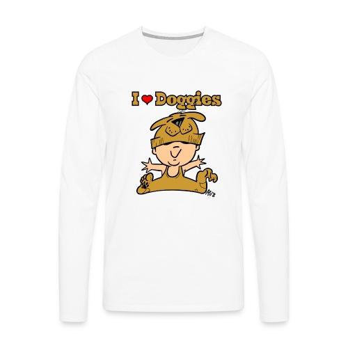 baby i love doggies color - Mannen Premium shirt met lange mouwen