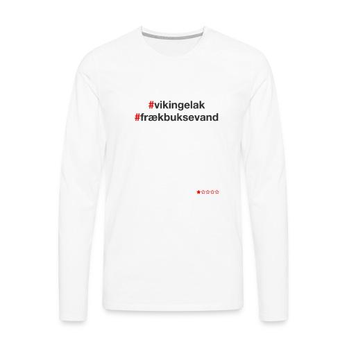 Hashtag - Herre premium T-shirt med lange ærmer