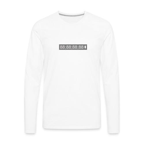 88; 88; 88; 88 box logo - Men's Premium Longsleeve Shirt