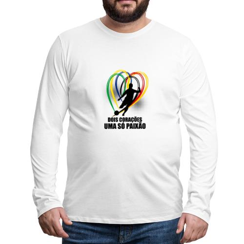 Fußball-Shirt Brasilien - Deutschland - Männer Premium Langarmshirt