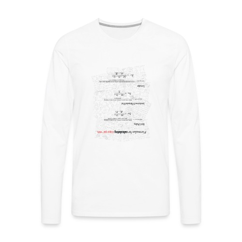 Formulas for calculating steps-per-mm (upturned). - Men's Premium Longsleeve Shirt