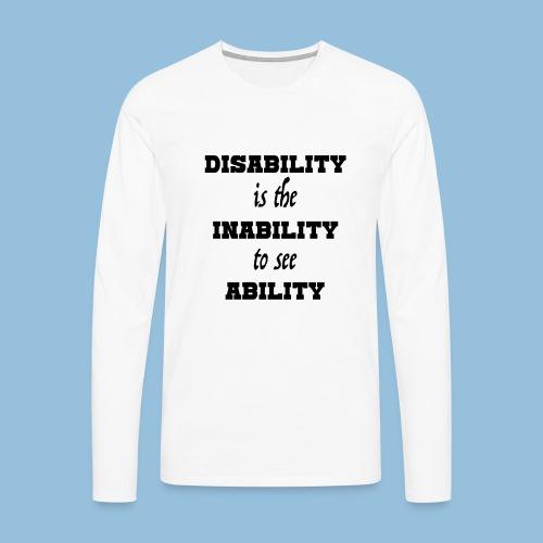 Ability4 - Mannen Premium shirt met lange mouwen