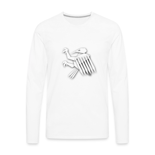 Nörthstat Group ™ White Alaeagle - Men's Premium Longsleeve Shirt