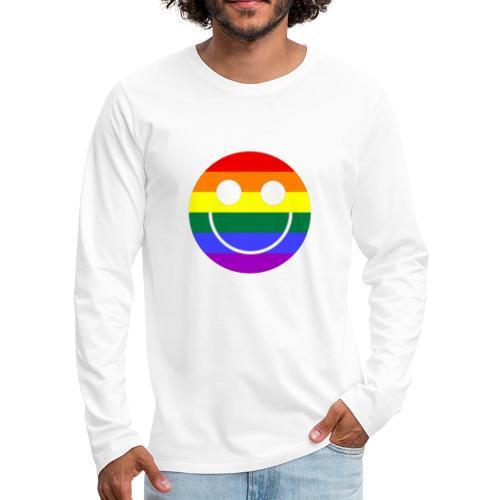 Regenbogen Smilie 1 - Männer Premium Langarmshirt