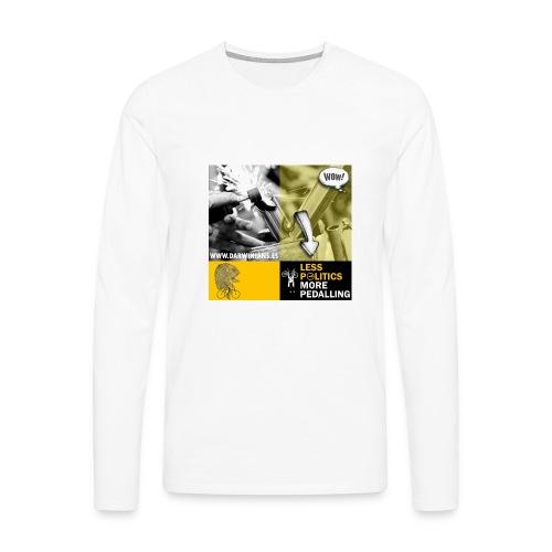 051 Less politics more pedalling - Camiseta de manga larga premium hombre
