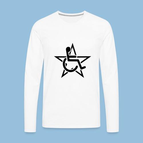 Wheelchairstar2 - Mannen Premium shirt met lange mouwen