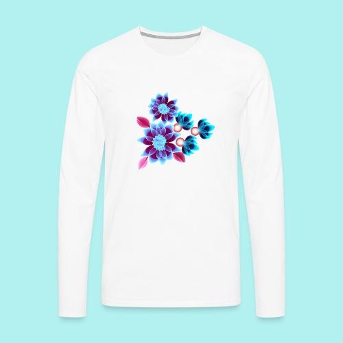 Hypnotic flowers - T-shirt manches longues Premium Homme