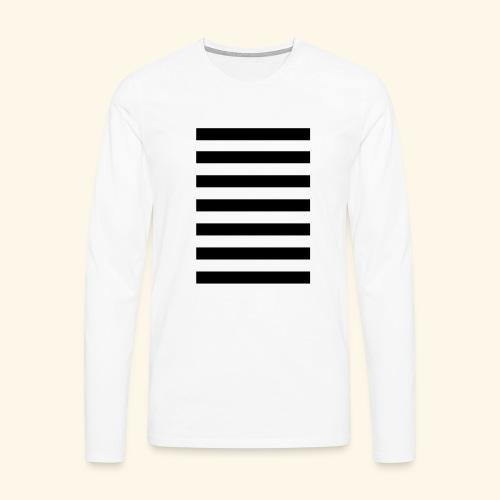 White Lands Streifen Muster - Männer Premium Langarmshirt