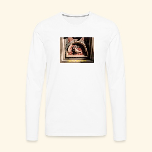 [peace&love] - Koszulka męska Premium z długim rękawem