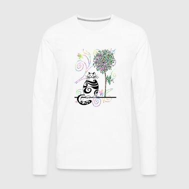 chat - T-shirt manches longues Premium Homme