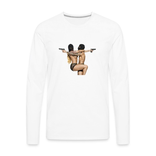 Bonnie & Clyde Love - Männer Premium Langarmshirt