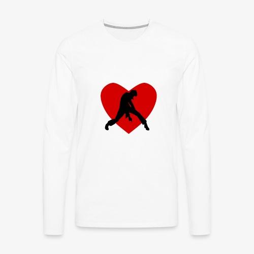 coeur de rocker - mon coeur pour Johnny - T-shirt manches longues Premium Homme