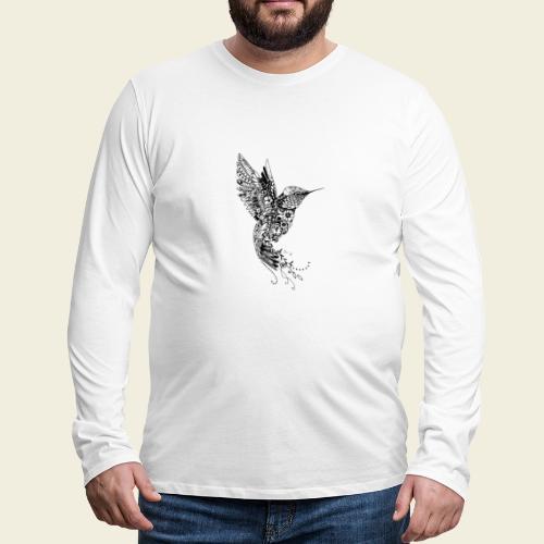 Großer Design-Kolibri - Männer Premium Langarmshirt