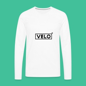 Velo Icon Blk - Long Sleeve Baseball Shirt W/N Clr - Men's Premium Longsleeve Shirt