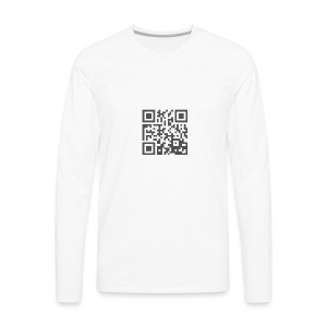 Plain QR Aesthetic Design - Men's Premium Longsleeve Shirt