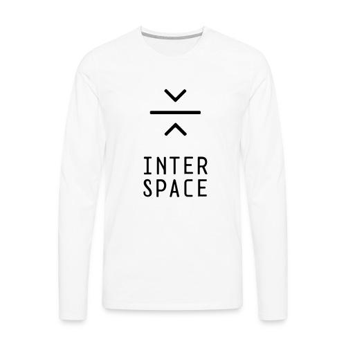 interspace logo 4a - Långärmad premium-T-shirt herr
