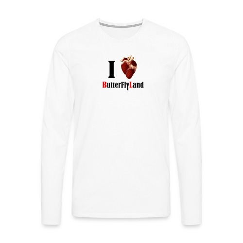 I love Butterflyland - T-shirt manches longues Premium Homme
