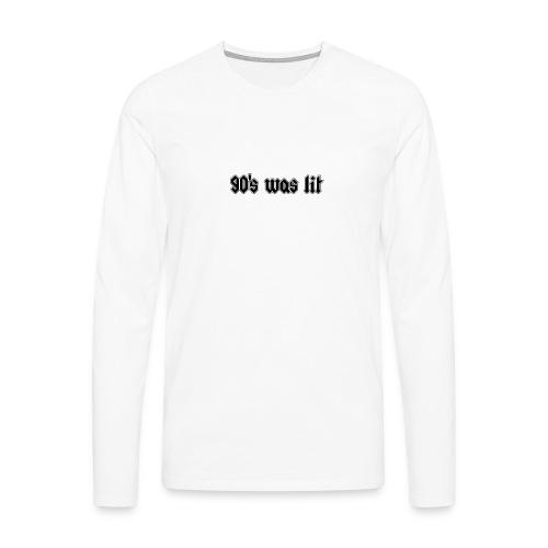 90 s was lit - T-shirt manches longues Premium Homme