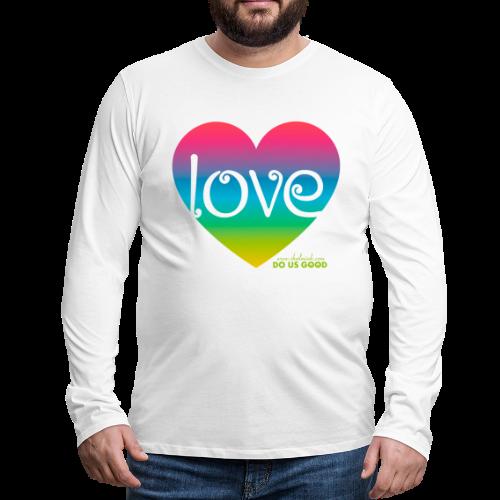 LOVE - Miesten premium pitkähihainen t-paita