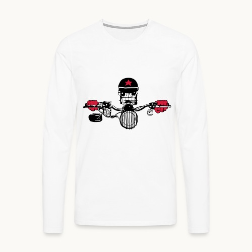 Motard Micky on the Road - T-shirt manches longues Premium Homme