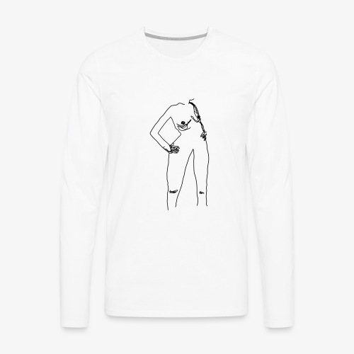 BLACK XX Rudme - Herre premium T-shirt med lange ærmer