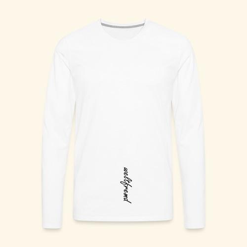 weltfremd black - Männer Premium Langarmshirt
