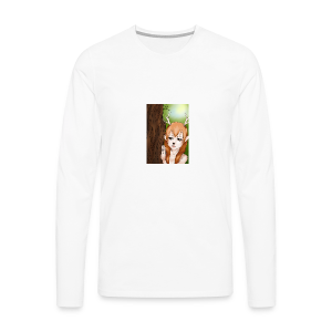 Sam sung s6:Deer-girl design by Tina Ditte - Men's Premium Longsleeve Shirt