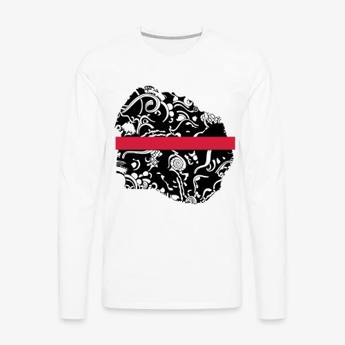 Schwarz und Weiß - Männer Premium Langarmshirt