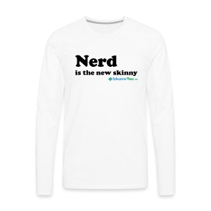 Nerd is the new skinny! - Premium langermet T-skjorte for menn