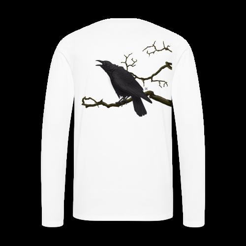 Cuervo negro - Camiseta de manga larga premium hombre
