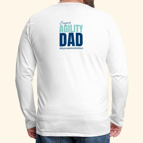 Super Agility Dad - Miesten premium pitkähihainen t-paita