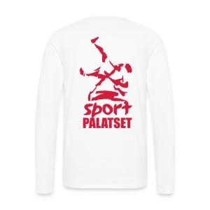 Motiv med röd logga - Långärmad premium-T-shirt herr
