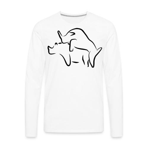 Tiere - Männer Premium Langarmshirt