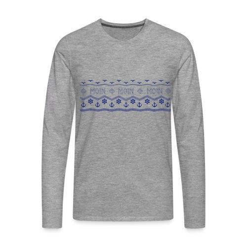 Muster Nordisch Maritim - Männer Premium Langarmshirt