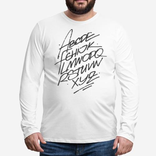 letters font alphabet - Männer Premium Langarmshirt