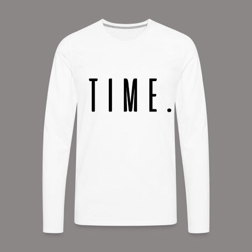 time - Männer Premium Langarmshirt