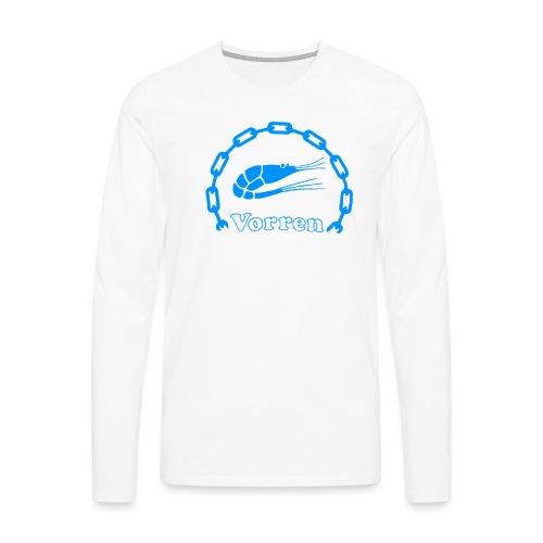 Vorren Logo CLASSIC [Blue] - Långärmad premium-T-shirt herr