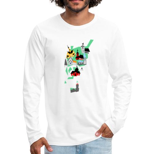 Åboland × Eva: Kimitoöns kyrkor - Miesten premium pitkähihainen t-paita