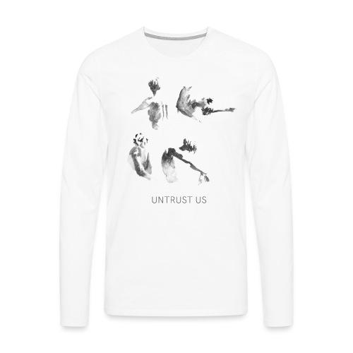 UNTRUST US Schrift + Cover Artwork Weiß - Männer Premium Langarmshirt