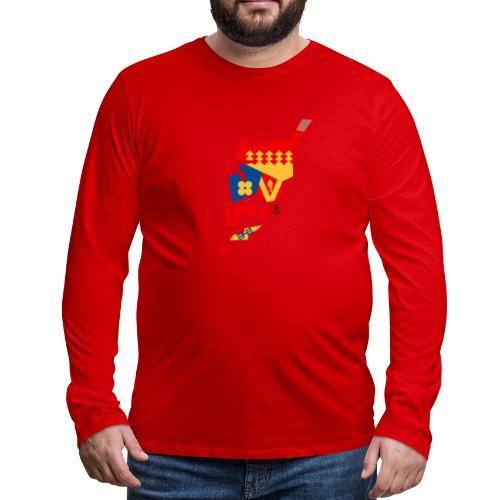 Åboland × Eva: Kimitoöns kommunvapen - Miesten premium pitkähihainen t-paita