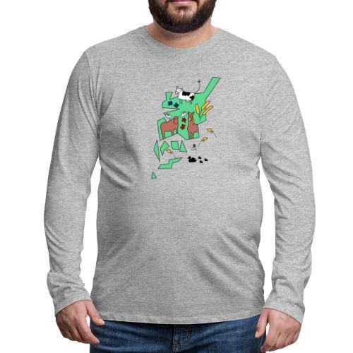Åboland × Eva: Kimitoöns djurliv - Miesten premium pitkähihainen t-paita