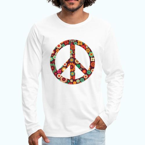 Flowers children - peace - Men's Premium Longsleeve Shirt