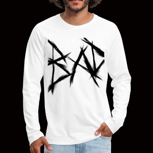 """ BAD "" - Långärmad premium-T-shirt herr"
