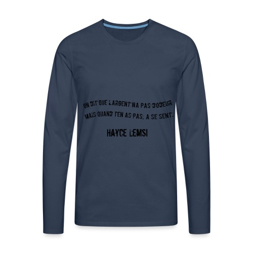 Punchline de Hayce lemsi - T-shirt manches longues Premium Homme